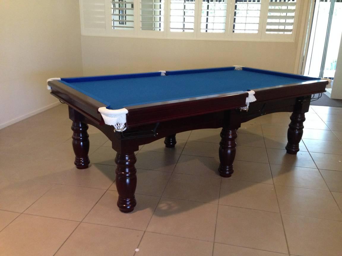 Pool table 8ft slate billiard snooker table - 8 foot pool table dimensions ...