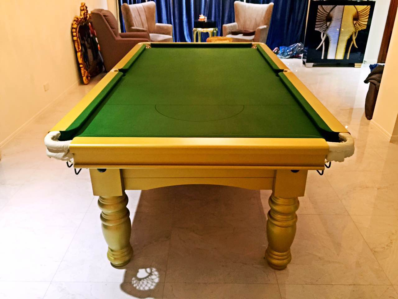 Pool table 8ft slate billiard snooker table - Taille table snooker ...