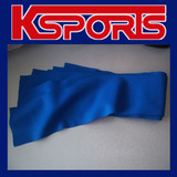 6 X POOL SNOOKER BILLIARD TABLE SINGLE SIDED CUSHION FELT STRIPS - WOOL - BLUE