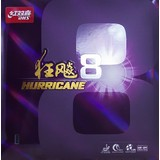 DHS Hurricane 8 Table Tennis Rubber - RED