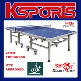 ITTF APPROVED Double Fish 25mm Top Table Tennis Table - International tournament quality