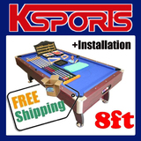 PUB SIZE POOL TABLE 8FT SNOOKER BILLIARD TABLE BLUE - WITH INSTALLATION